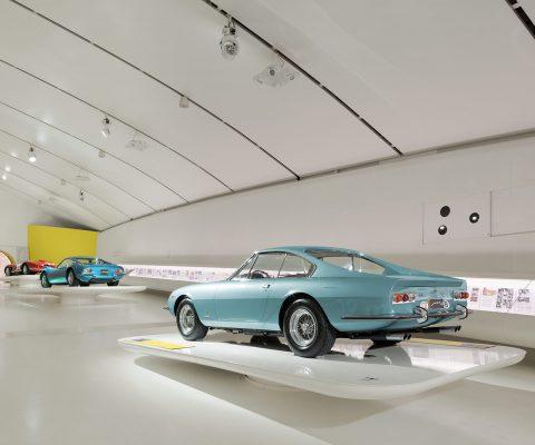 historical ferrari cars in museum